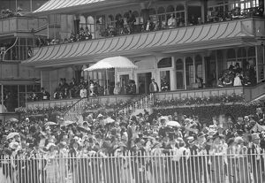 Royal Ascot. A general view of the scene in the Royal box and Royal enclosure