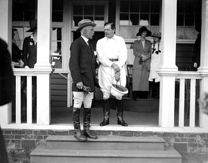 Royal Polo. Admiral Lord Beatty at the Polo Match at Hurlingham. 14 July 1920