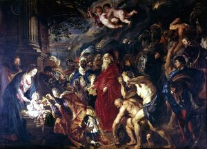 Rubens - La Adoration de los Reyes - Adoration of the Magi, 1610 by Peter Paul Rubens
