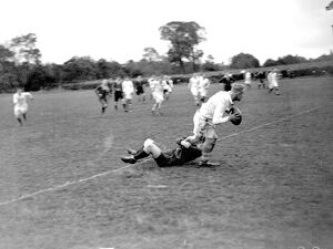 Rugby game: Sidcup V L Scott rugger. 1934