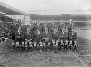 Rugby match between Navy and Army at Twickenham. The Navy team. 7 March 1925