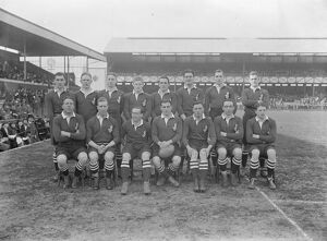 Rugby match between navy and Army at Twickenham The Navy team 7 March 1925
