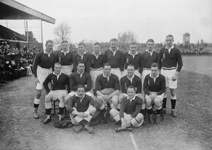 Rugby at Twickenham, London Army versus Navy The Army team 1 March 1924