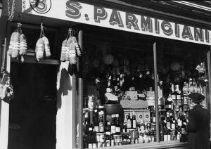 S. Parmiciani and Italian produce store at 8 Old Compton Street, Soho, London, England