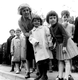 In Safe Hands - Miss Irene Fowler who runs a kindergarten school in Knockholt, Kent