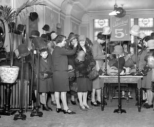 Sales time in Kensington. Scene at Barker's. 28 December 1928