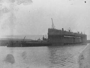 To salvage German warships at Scapa Flow Surrendered German submarine dock, converted