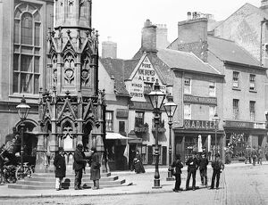 Sawyers Arms public house at Lister Gate, Nottingham, England. c. 1880