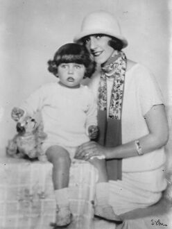 Senora Dodero, of Buenos Aires, with her little daughter Marquita, who are paying
