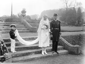 At Sherbourne Abbey, Dorset, the wedding took place of Miss P Grace and Paymaster
