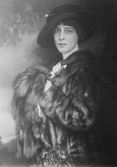 Signora Franca Floria. A distinguished Italian visitor to London 8 August 1922