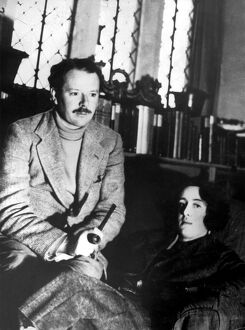 Sir Harold Nicolson and his wife writer Vita Sackville West at their home in Sissinghurst