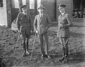 sir Philip Sassoon, under secretary for air, paid a visit of inspection to the