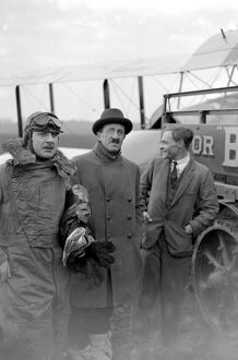 Sir Sefton Brancker (centre) with Mr Alan Cobham ( pilot ), left, and his machanic