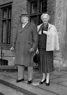 Sir Winston Churchill and Lady Clementine Churchill Sir Winston recently resigned