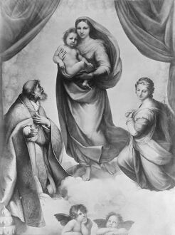 The Sistine Madonna an oil painting by the Italian artist Raphael 1919