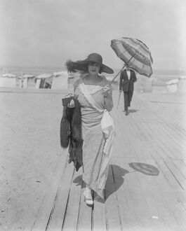 Society at Deauville, France Miss Betty Sassoon at Deauville Races 8 August 1923
