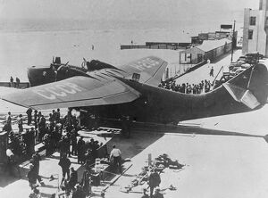 Soviet buys giant flying boat from America. Specially constructed, carries 32 passengers