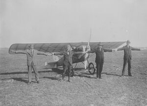 The sport plane The small sporting monoplane has been built by the brothers Rieseler