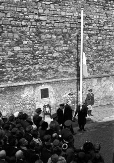 At this spot behind the walls of Kilmainham Prison fifty years ago , the British