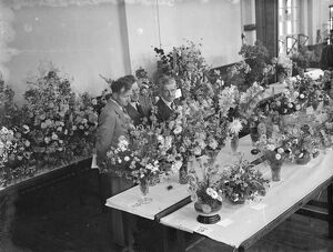 The Spring Flower Show in Welling, Kent. 1939