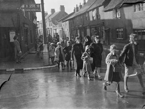 St Josephs School children during a gas mask drill in St Mary Cray, Kent