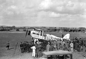 Stag Lane Aerodrome. 'Pride of Youth' the Giant Moth in which Sir Alan