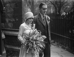 A stage bride. Miss Connie Shotter, and Mr Abney Gibbons, were married at Christ