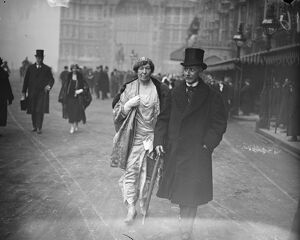 State opening of Parliament. Lord and Lady Mildmay of Fleet. 9 December 1924