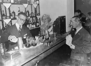 Stravinsky's secretary now runs cocktail bar with London dancer as hostess . Gilbert Ramognie