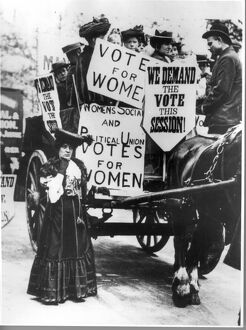 Suffragette demonstration 21st May 1906