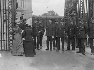 Suffragettes attempt to present a petition to the King at Buckingham Palace Lady Barkley