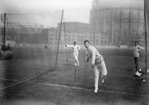 Surrey Boy Bowler, Busy at the Oval cricket ground in London Ronald Lowe the 16