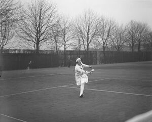 Surrey Hard Court Championships at Roehampton. Miss Gwen Sterry in play. 16 April