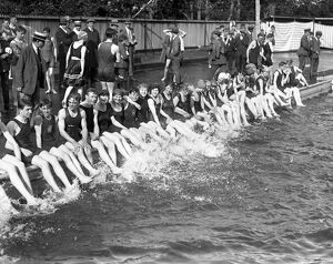 1920s/air flying machines/swimmers making splash tonbridge open air swimming