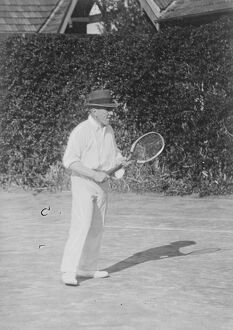 Tennis at Cannes, France Sir Stephenson Kent, K C B, director General of Munitions