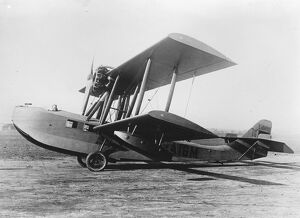 Thames seine flights, daily service hoped for. The amphibian plane which will