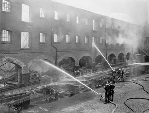 Thousands of gallons of water poared into burning railway depot. One of the biggest