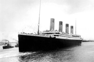 Titanic leaving Southampton on her maiden voyage, Wednesday 10th April 1912