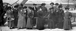 Titanic survivors Picked up by the Carpathia : surviving sewardesses of the Titanic