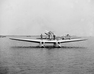 A tragedy marred the first stage of the flight of the Italian air armada of 24 flying