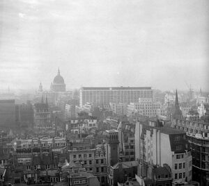 Transformation of City of London looking towards St Pauls Cathedral from the Monument
