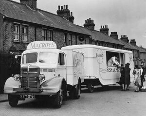 A travelling fish and chip shop for the villages. This mammoth van, owned by H.C