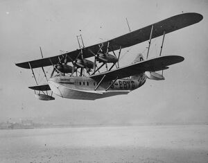 Trials of biggest , fastest , and most powerful flying boat
