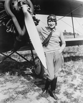 1920s/air flying machines/try new woman s endurance record miss marjorie