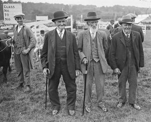 Typical Countrymen Long service estate employees at the Tunbridge Wells Agricultural