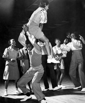 USA Harlem. The Savoy Club. The Lindy Hop dance by devotees of swing