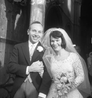 Valentine's Day wedding of John Surtees and Patricia Burke in Winchester