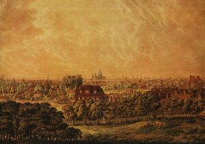 View of London From A Gentleman's Seat in Lambeth Marsh 1804 History of London