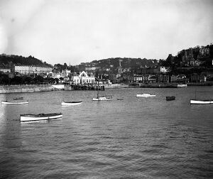A view of Torquay Harbour. 1 February 1928
